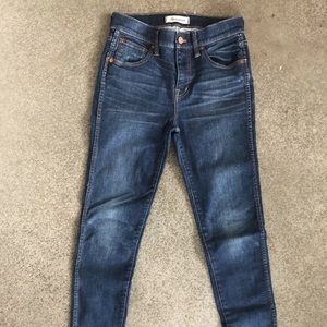 "Madewell 9"" High Rise Skinny Jeans in Polly Wash"